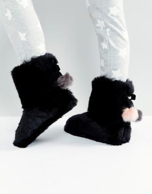 Ted Baker Слиперы-ботинки из искусственного меха Hamond. Цвет: черный