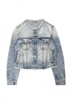 Куртка джинсовая Gulliver. Цвет: голубой