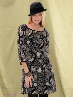 Платье Blend. Цвет: черный, бежевый