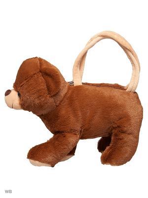 Сумочка Мишка Fluffy Family. Цвет: коричневый, бежевый