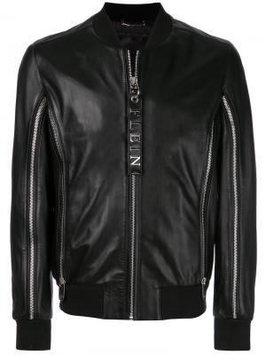 Куртка-бомбер с молниями Philipp Plein. Цвет: чёрный