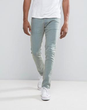 Loyalty & Faith Выбеленные эластичные джинсы скинни and. Цвет: синий