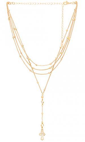 Ожерелье Ettika. Цвет: золотой