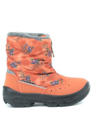 Сапоги Alaska Originale. Цвет: оранжевый цветы