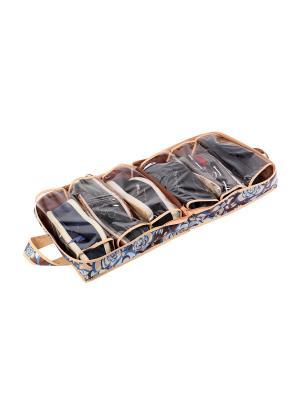 Чемоданчик для хранения обуви на 6 пар 35х40х20см Прованс 1313 COFRET. Цвет: бежевый, голубой, коричневый