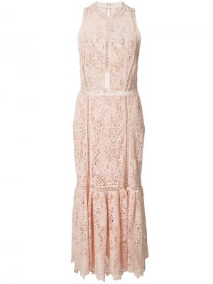 Sleeveless lace dress Rebecca Taylor. Цвет: розовый и фиолетовый