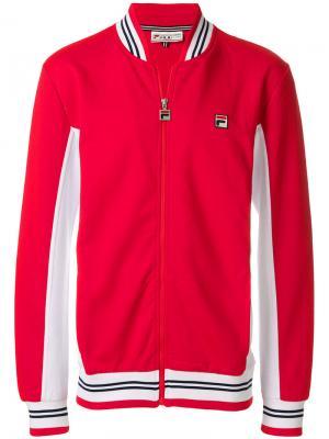Спортивная куртка на молнии Fila. Цвет: красный