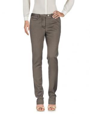 Повседневные брюки PIATTO. Цвет: темно-коричневый