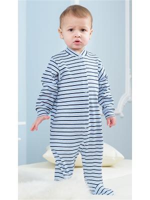 Комбинезон Веселый малыш. Цвет: черный,голубой,серый меланж