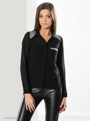 Блузка OBJECT. Цвет: черный
