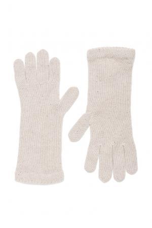 Кашемировые перчатки с шелком 173084 Andre Maurice. Цвет: бежевый