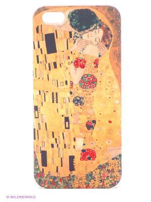 Чехол для IPhone 5 Поцелуй Климта Mitya Veselkov. Цвет: оранжевый, желтый, красный
