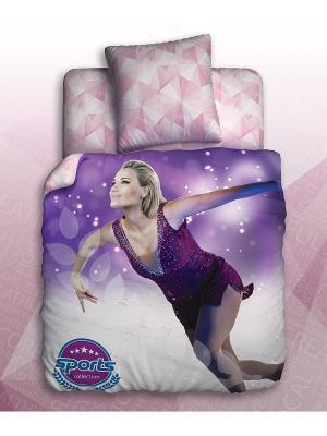 Комплект постельного белья 1,5 биоматин Teens Sport Unison. Цвет: сиреневый, серый, темно-фиолетовый