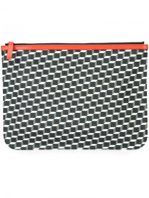 Клатч с геометрическим принтом Pierre Hardy. Цвет: красный
