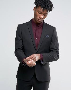 Harry Brown Черный пиджак узкого кроя. Цвет: черный