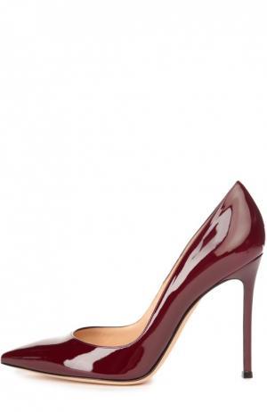 Лаковые туфли Gianvito 105 на шпильке Rossi. Цвет: бордовый
