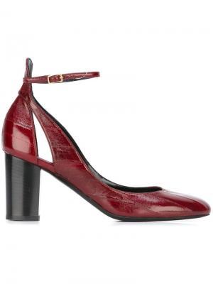 Туфли с ремешком на щиколотке Michel Vivien. Цвет: красный