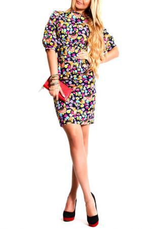 Платье FRANCESCA LUCINI. Цвет: цветочный