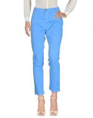 Повседневные брюки MARIA GRAZIA SEVERI. Цвет: лазурный