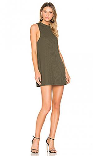 Платье в полоску slay A Fine Line. Цвет: темно-зеленый
