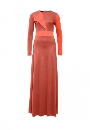 Платье Sahera Rahmani. Цвет: коралловый