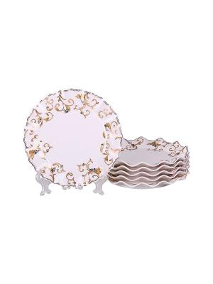 Набор десертных тарелок 6 шт 19см, PATRICIA. Цвет: белый