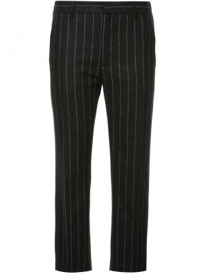 Укороченные брюки в полоску Hope. Цвет: чёрный