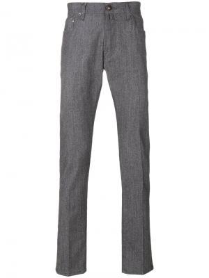Брюки пятикарманной модели Jacob Cohen. Цвет: серый