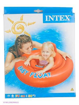 Надувной круг Intex. Цвет: оранжевый