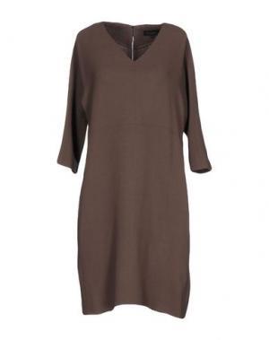 Короткое платье ANTONELLI. Цвет: светло-коричневый