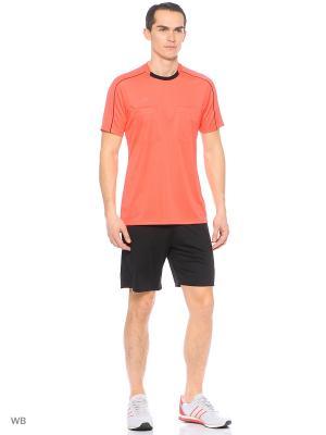 Футболка спортивная муж. REF16 JSY  SHORED/BLACK Adidas. Цвет: красный, черный