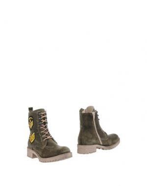 Полусапоги и высокие ботинки GEORGE J. LOVE. Цвет: зеленый-милитари