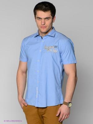 Рубашка MILANO ITALY. Цвет: голубой