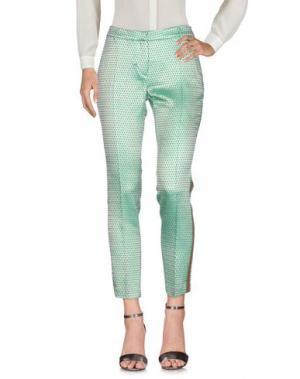 Повседневные брюки FEMME by MICHELE ROSSI. Цвет: зеленый