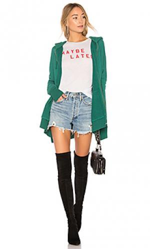 Худи solid Wildfox Couture. Цвет: зеленый