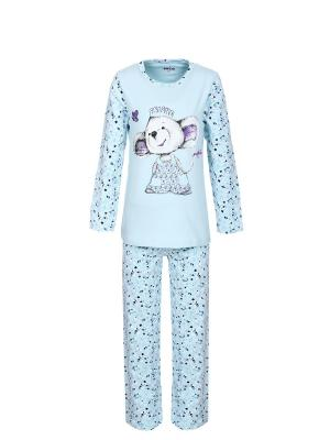 Пижама BAYKAR. Цвет: голубой