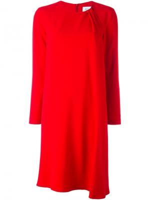 Платье шифт Gianluca Capannolo. Цвет: красный