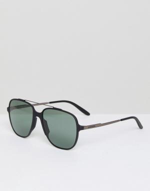 Carrera Квадратные солнцезащитные очки. Цвет: черный