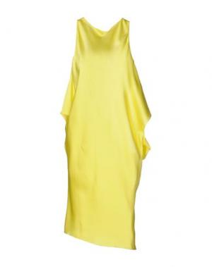 Платье до колена ANN DEMEULEMEESTER. Цвет: желтый