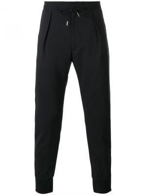 Спортивные брюки со складками Paul Smith London. Цвет: чёрный