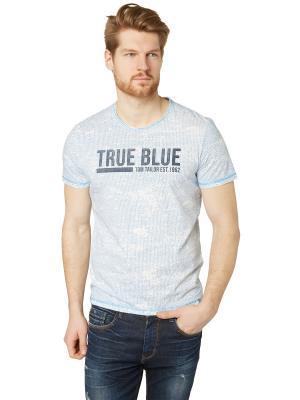 Футболка TOM TAILOR. Цвет: голубой