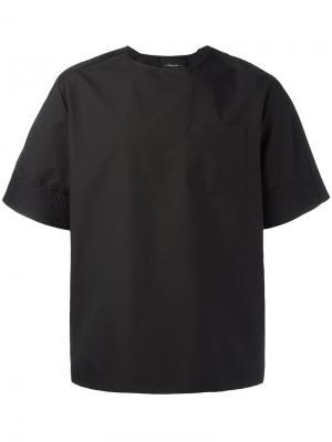 Объемная футболка 3.1 Phillip Lim. Цвет: чёрный