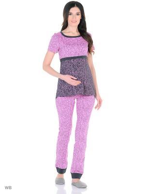 Комплект женский для беременных и кормящих Hunny Mammy. Цвет: серый, розовый
