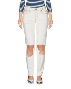 Джинсовые брюки R13. Цвет: слоновая кость