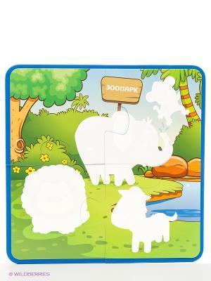Зоопарк: водораскраски-пазлы Феникс-Премьер. Цвет: белый