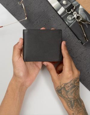 Systvm Кожаный бумажник. Цвет: черный