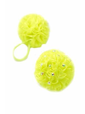 Резинка-сфера со стразами салатовая 2 шт. детская JD.ZARZIS. Цвет: салатовый