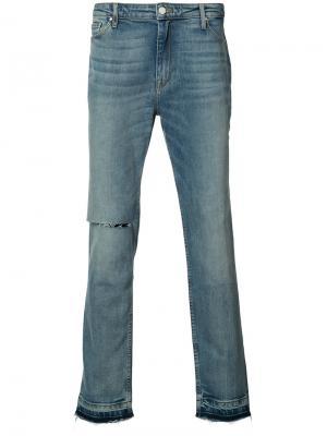 Прямые джинсы с эффектом поношенности Ovadia & Sons. Цвет: синий
