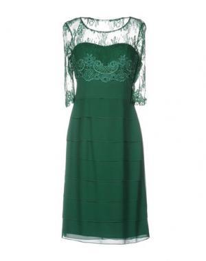 Платье до колена ALLURE. Цвет: темно-зеленый