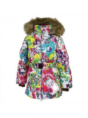 Куртка для девочек LESLIE1 HUPPA. Цвет: белый